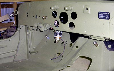 hardscrabble farm here s a shot of the dash the four screws on the dash below the dataplate are for the first aid kit bracket you can see the kit in the bracket just